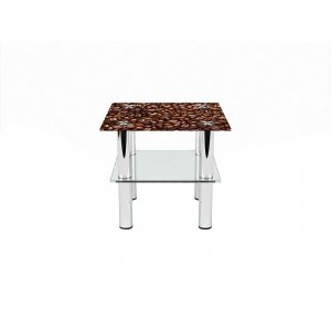 Квадратный журнальный стол с полкой Morning aroma 50х50