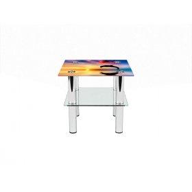 Квадратный журнальный стол с полкой Ocean 40х40