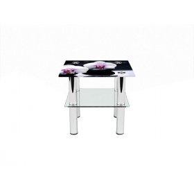 Квадратный журнальный стол с полкой Relax 40х40