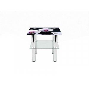 Квадратный журнальный стол с полкой Relax 70х70