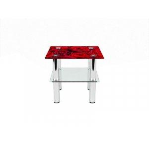 Квадратный журнальный стол с полкой Rose 80х80