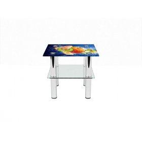 Квадратный журнальный стол с полкой Sweet Mix 40х40