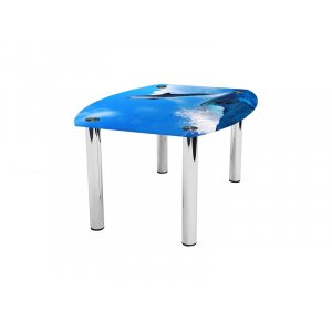 Журнальный стол бочка Dolphin 110х75