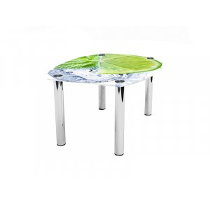 Журнальный стол бочка Ice lime 80х60