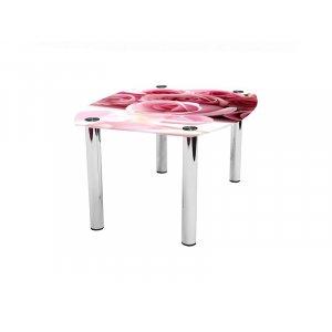 Журнальный стол бочка Pink Roses 100х75
