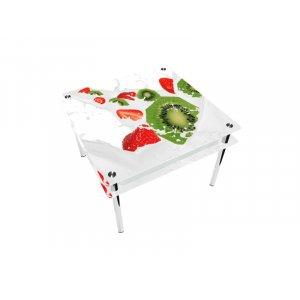 Стол квадратный с проходящей полкой Fruit&Milk Эко