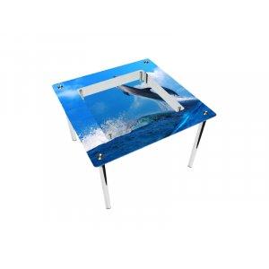 Стол квадратный с полкой Dolphin Эко
