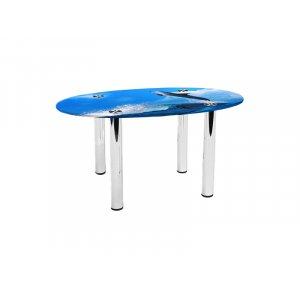 Овальный журнальный стол Dolphin 90х60