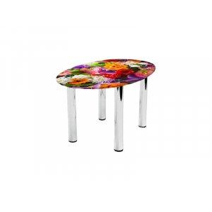 Овальный журнальный стол Flowers 110х74