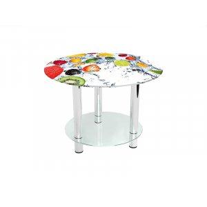 Круглый журнальный стол с полкой Fruit Shake 90х90