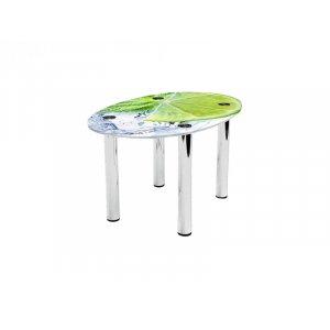 Овальный журнальный стол Ice Lime 90х60