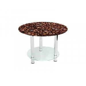 Круглый журнальный стол с полкой Morning aroma 70х70