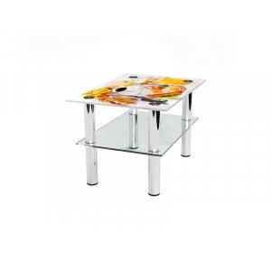 Прямоугольный журнальный стол с полкой Nice breakfast 95х66