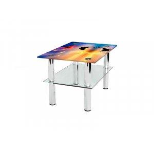 Прямоугольный журнальный стол с полкой Ocean 65х45