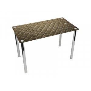 Обеденный прямоугольный стол Pelle marrone 120х75