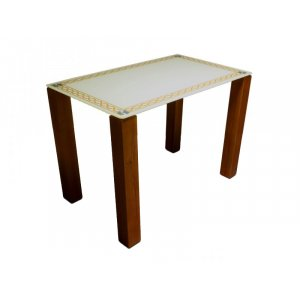 Стол стеклянный Плетенная рамка