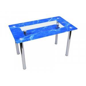 Обеденный прямоугольный стол с полкой Acqua 120х75