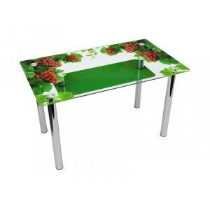 Обеденный прямоугольный стол с полкой Bacche verdi 91х61 Эко