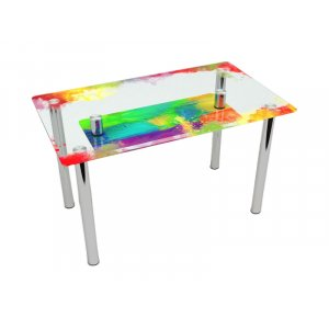 Обеденный прямоугольный стол с полкой Colorate 120х75