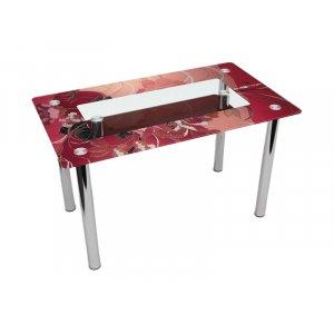 Обеденный прямоугольный стол с полкой Fiori rossi 120х75