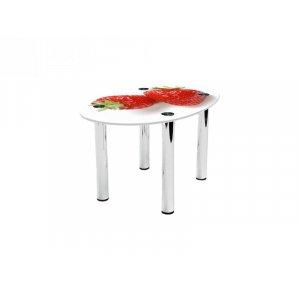 Овальный журнальный стол Red berry 110х74