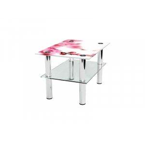 Прямоугольный журнальный стол с полкой Sakura 85х59