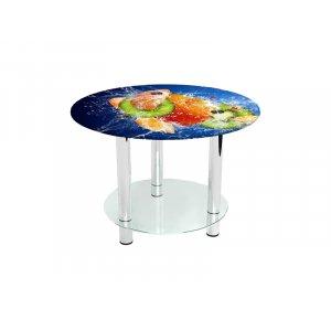 Круглый журнальный стол с полкой Sweet Mix 60х60