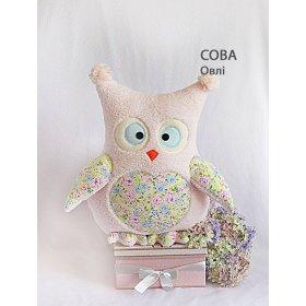 Подушка Сова Овли розовая
