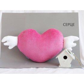 Подушка Сердце малиновое