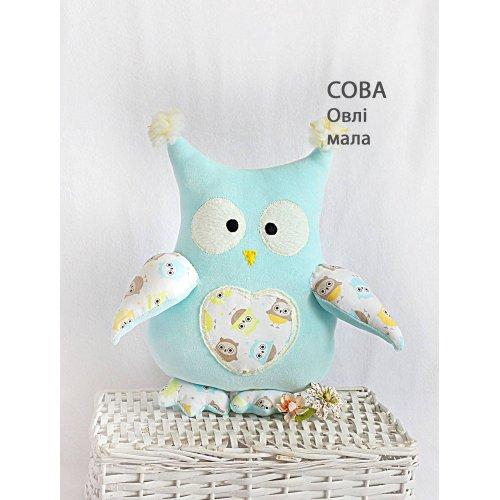 Подушка Сова Овли маленькая голубая