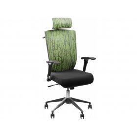 Кресло Barsky Eco Хром (спинка зеленая/сидение черное)