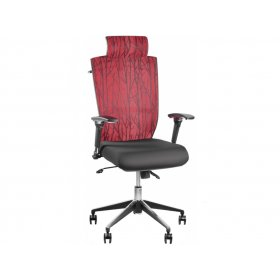 Кресло Barsky Eco Хром (спинка бордовая/сидение черное)