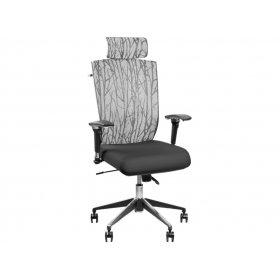 Кресло Barsky Eco Хром (спинка серая/сидение черное)