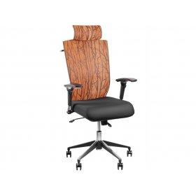 Кресло Barsky Eco Хром (спинка оранжевая/сидение черное)