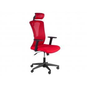 Кресло Barsky Mesh (основа черная/верх красный)