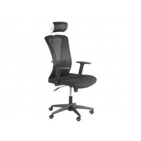 Кресло Barsky Mesh (основа черная/спинка белая)