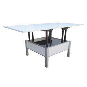 Стол трансформер раскладной Гамма алюминий 43х80х80(75х160х80)