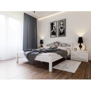Кровать Италия с ковкой ЧДК 180х200
