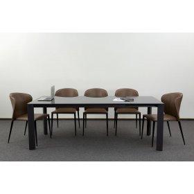 Комплект стол GLOSS GREY GLASS+5 стульев ARTHUR