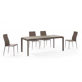 Комплект стол GLOSS MOKA GLASS+6 стульев NICETY