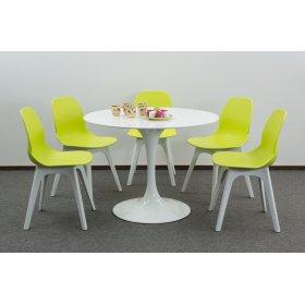 Комплект стол TULIP+5 стульев APPLE