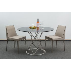 Комплект стол CRYSTAL+2 стула GENTLEMAN хром