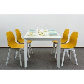 Комплект стол MATT WHITE GLASS+4 стула APPLE