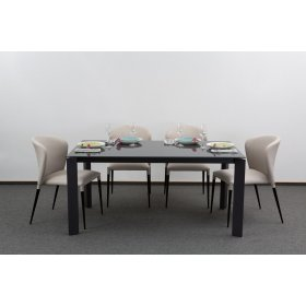 Комплект стол GLOSS GREY GLASS+4 стула ARTHUR