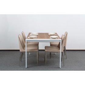 Комплект стол IRVIN + 4 стула GENTLEMAN хром