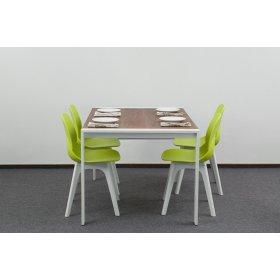 Комплект стол IRVIN+4 пластиковых стула APPLE