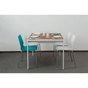 Комплект стол IRVIN+4 пластиковых стула LEAF