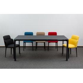 Комплект стол GLOSS GREY GLASS+5 стульев BUTTERFLY