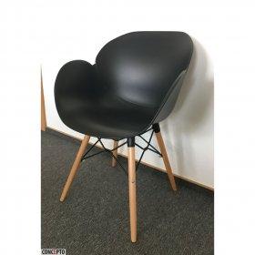 Черное пластиковое кресло Friend