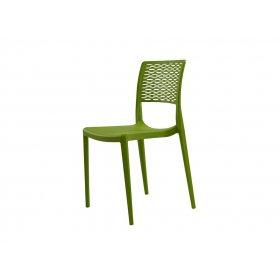 Стул пластиковый GRACE зелёный